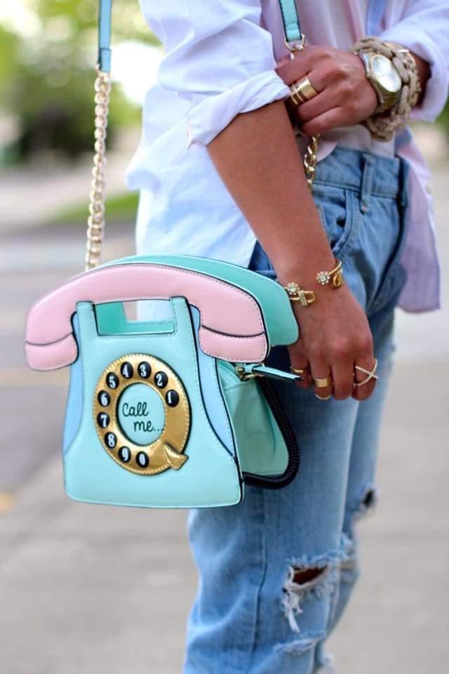 Bolsa Divertida Retro Telefone
