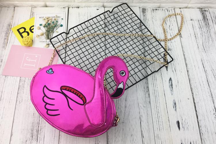 Bolsa Flamingo Metalizada