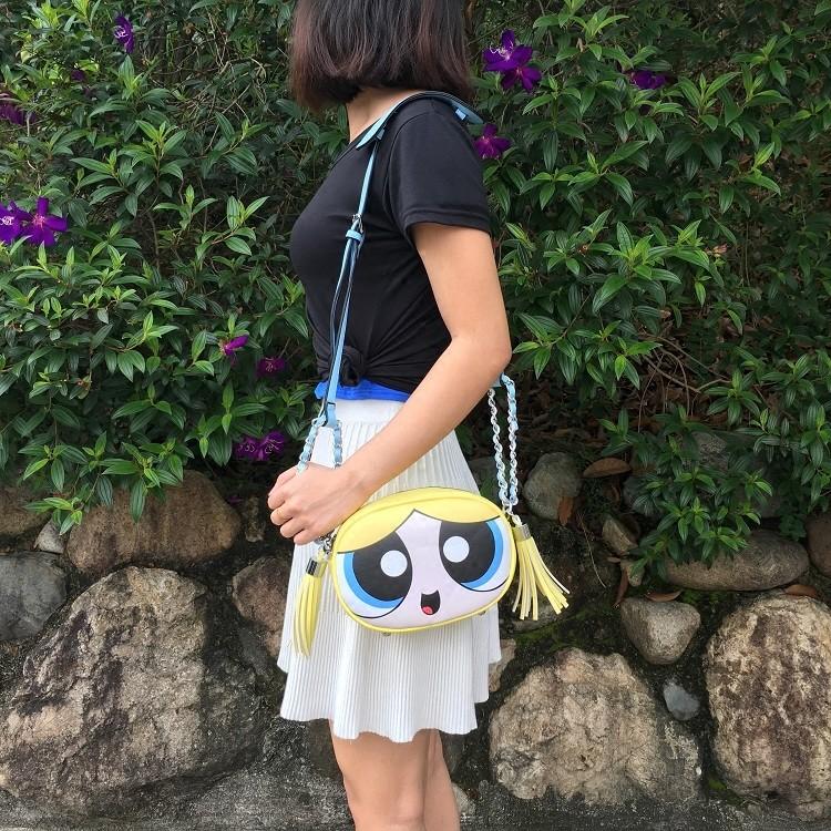 019f0f9b5 Bolsa Divertida Meninas Super Poderosas 3 cores - Bolsas Divertidas