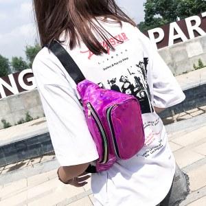 Bolsa Pochete Holográfica varias cores rosa