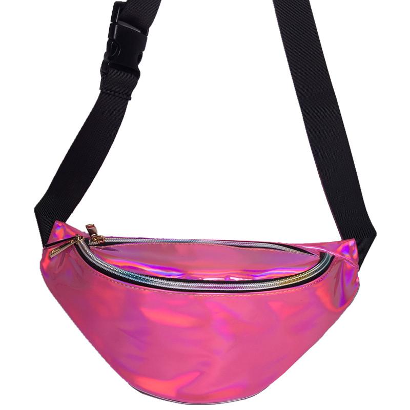 Bolsa Pochete de Cintura Holográfica Diversas Colores, Pochete Holográfica, pochete femenina