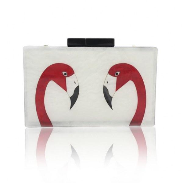 Bolsa Clutch Modelo Flamingo