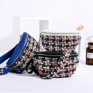 Bolsa Pochete Femenino Textura Tweed