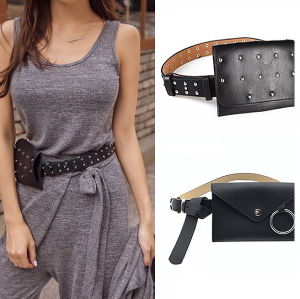 Pochete Bolsa de Cinturón Femenino Negro