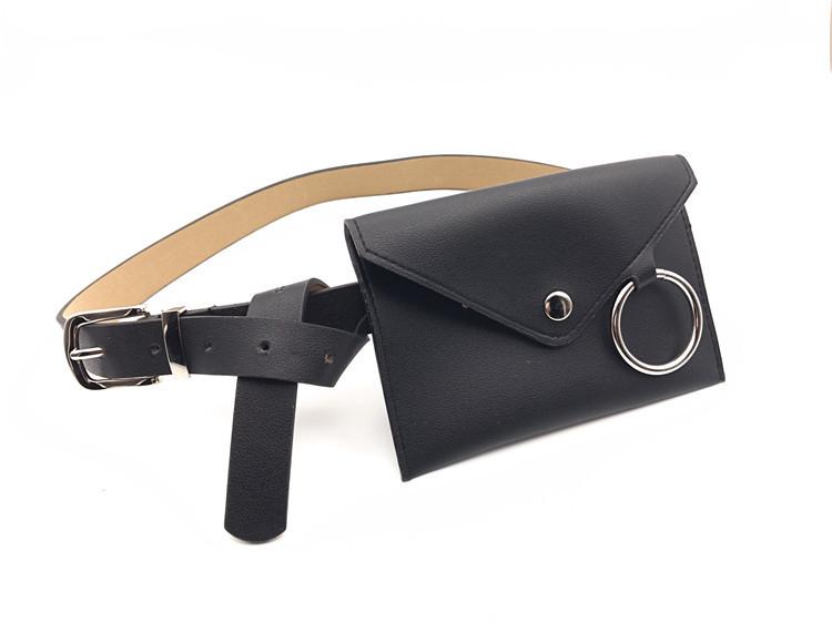 Bolsa Pochete con Cinturón Femenino en Cuero Sintético, pochete femenino