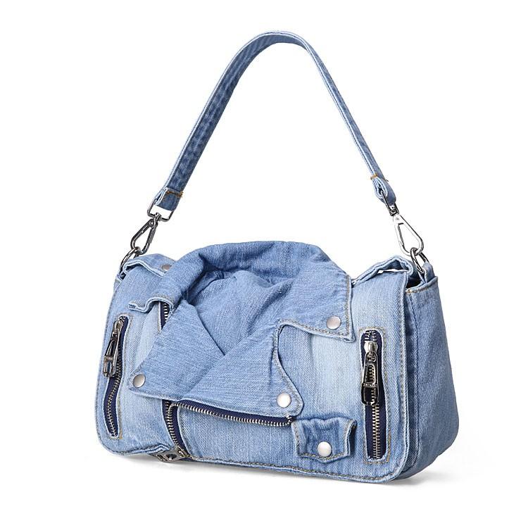 Bolsa Jeans Femenina en forma de Chaqueta