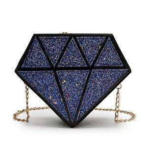 Bolsa Transversal Glitter em Forma de Diamante