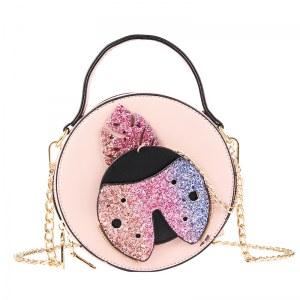 Ladybug Round Glitter Cross Bag