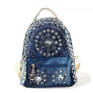 Mini Women's Jeans Backpack