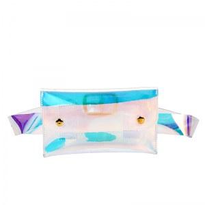 Pochete Femenino Holográfica Transparente