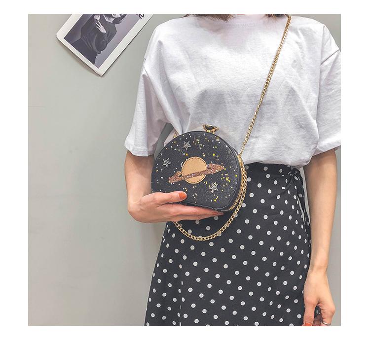 Bolsa Glitter Transversal Fashion Planeta