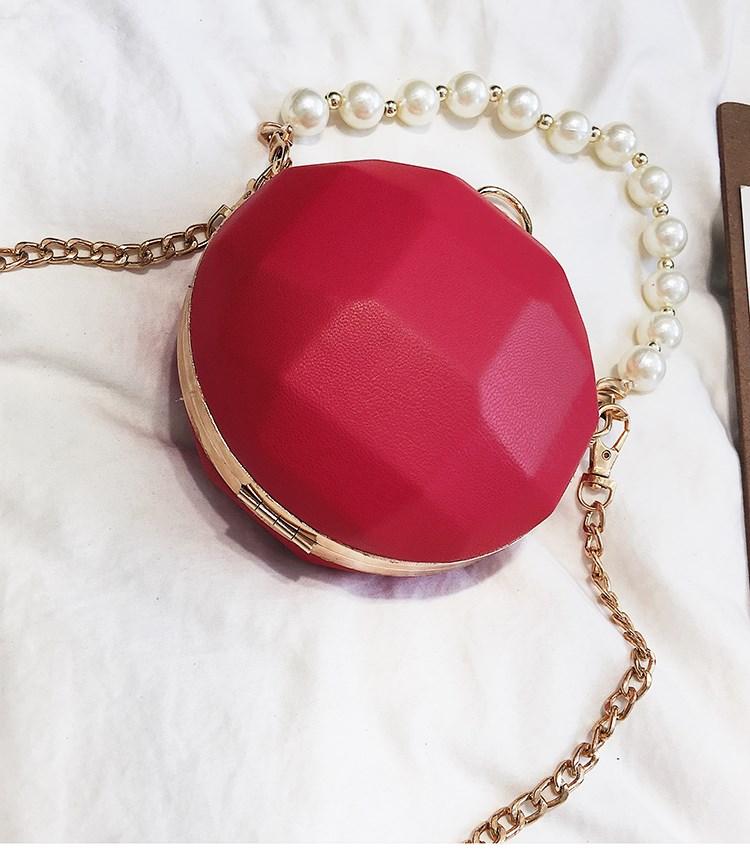 Bolsa Esfera con Alza Perlas roja