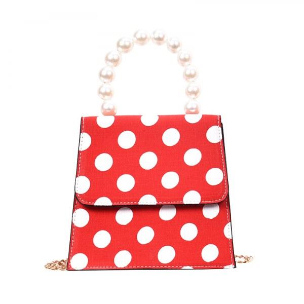 Ladies Handbag Poa Pearl Strap