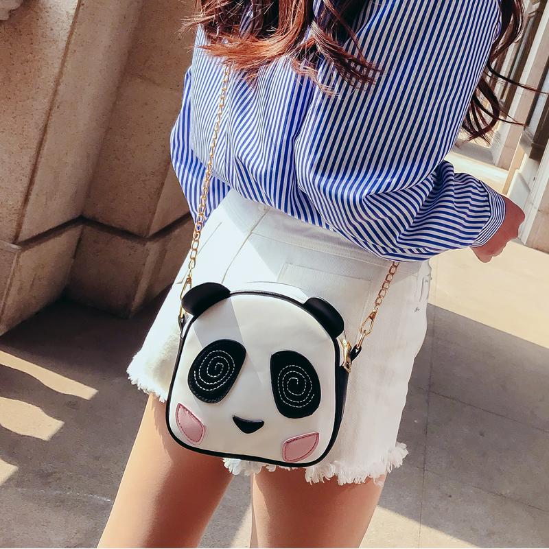 Bolsas estilo animais, Bolsa Transversal Divertida Feminina Panda