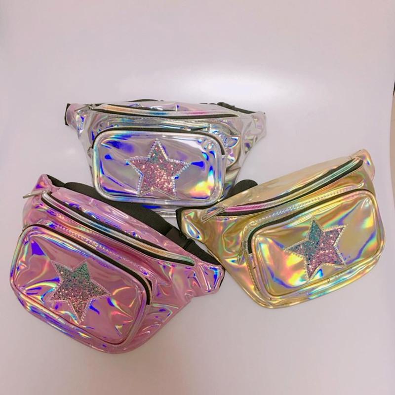 Pochete Femenino Holográfica Estrella
