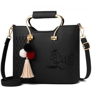 Classic Tote Handbag Metal and Tassel Handbag, Classic Style Handbags