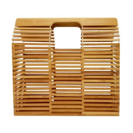 Bolsa de Madeira Bambu Quadrada Vazada,Bolsas de Bambu