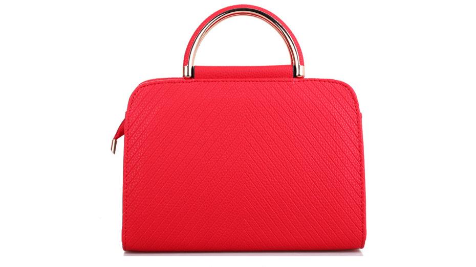 Textured Square Female Tote Bag