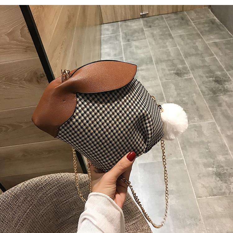 Bolsa de Ajedrez Femenina en Forma de Conejo