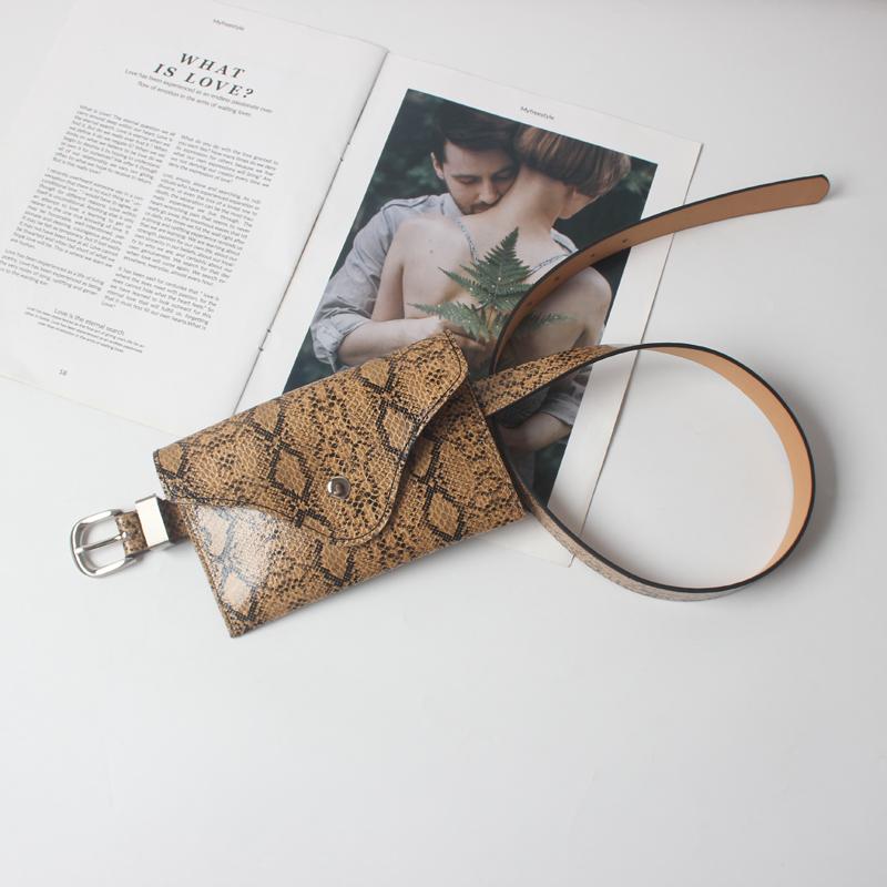 Bolsa Cinto Pochete Couro Animal Print