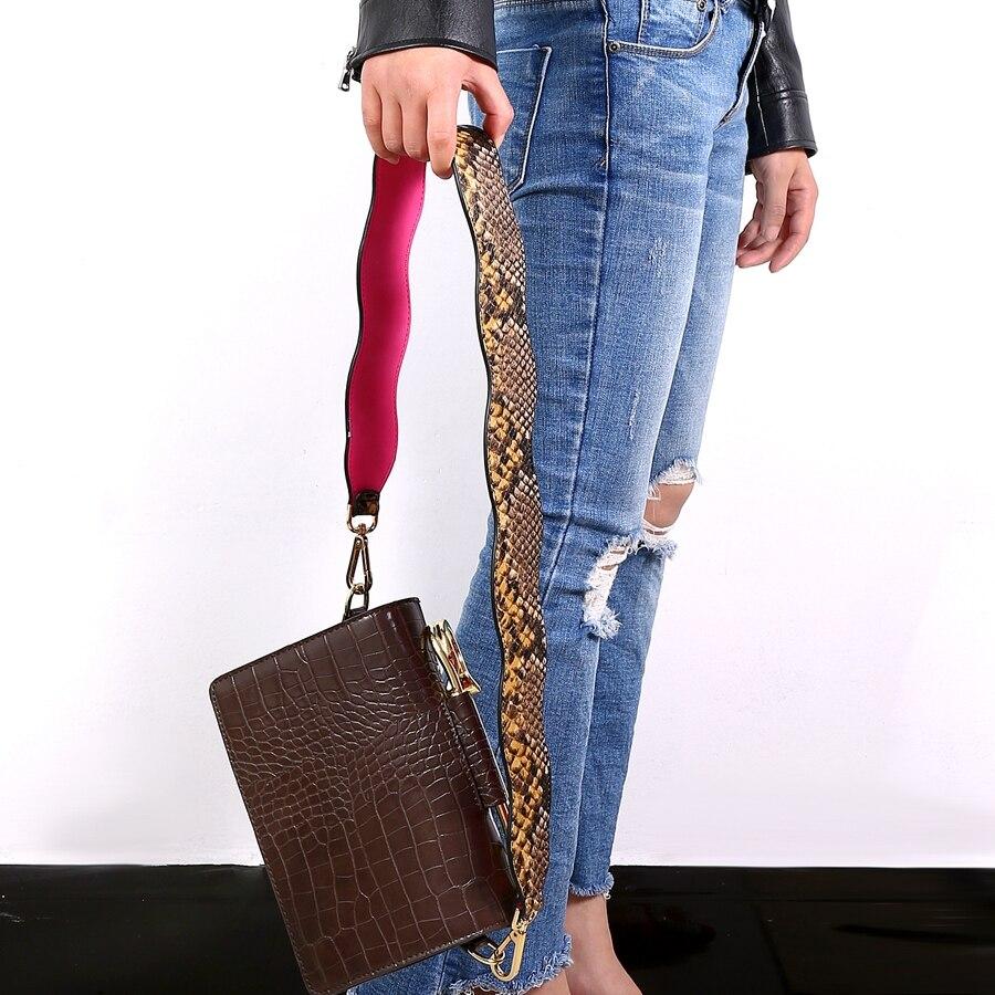 Alça para Bolsa Textura Pele de Cobra